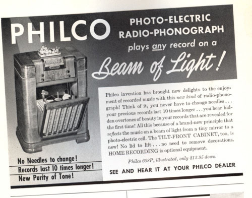 An ad for the radio