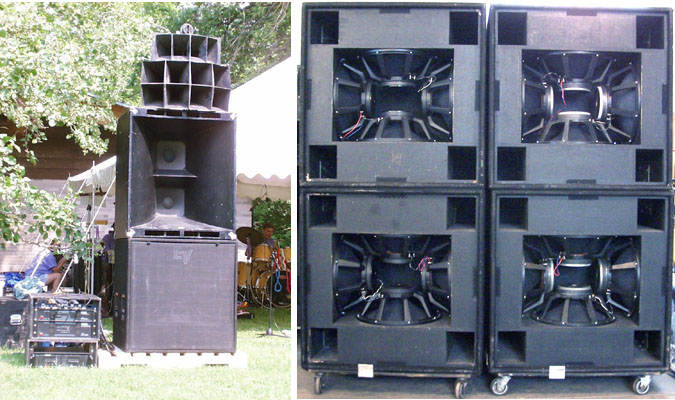 Left side of system-------------------------------------inside 4 subwoofer cabinets