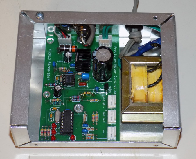 Internal view of the digital motor controller