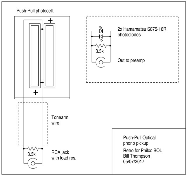 Push-Pull photocell schematic
