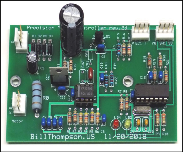 Fall 2018 version of controller board