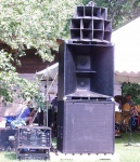 One side of my outdoor sound system